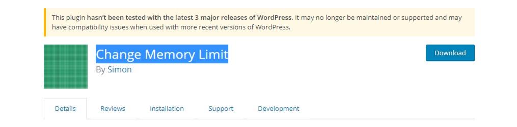 WordPress fatal error: allowed memory size of