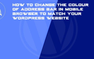 How to change the colour of address bar in mobile browser to match your WordPress website