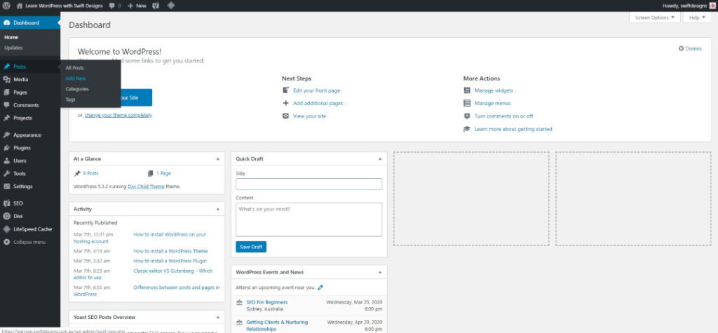 How to add a post in WordPress
